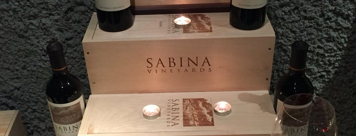 Sabina Vineyards is one of Napa.
