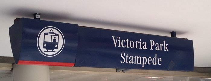 Victoria Park/Stampede (C-Train) is one of C train stops.