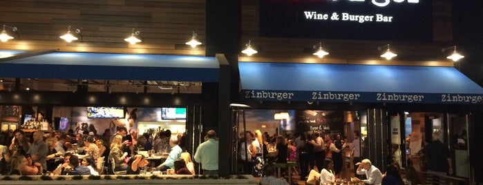 Zinburger Wine & Burger Bar is one of Любимые Места.