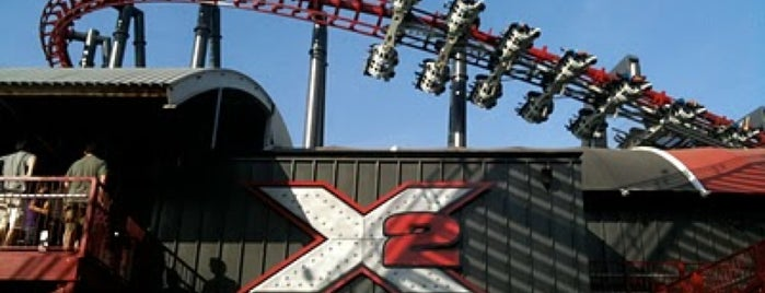 X2 is one of Six Flags Magic Mountain Roller Coasters.