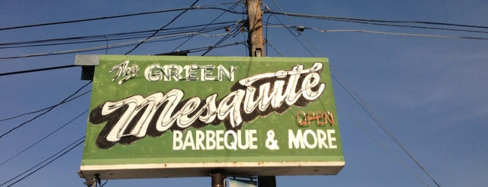 Green Mesquite BBQ is one of TX eats.