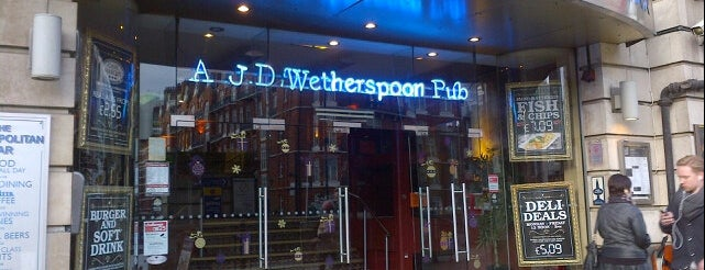 The Metropolitan Bar (Wetherspoon) is one of Around Marylebone Campus.
