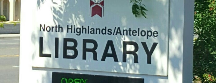 North Highlands-Antelope Library is one of Sacramento Public Library branches.