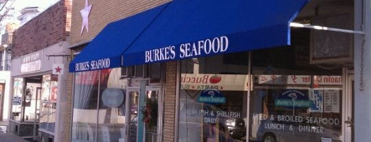 Burke's Seafood is one of Quincy- City of Presidents.