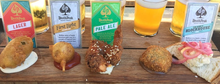 Devil's Peak Brewing Company (The Taproom) is one of Travel Guide to Cape Town.