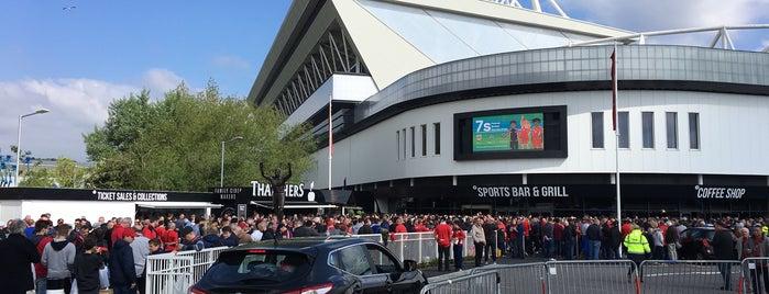 Ashton Gate Stadium is one of Football grounds visited.