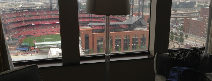 Hilton St. Louis at the Ballpark is one of Tallest Buildings in St. Louis.