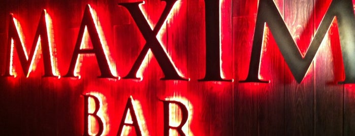 Maxim Bar is one of moscow interesting restaurants.