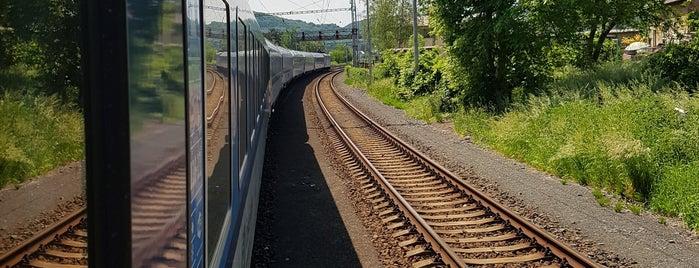 Železniční stanice Povrly is one of Železniční stanice ČR: P (9/14).
