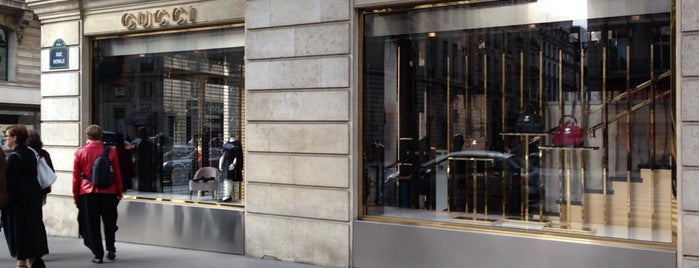 Gucci is one of Paris boutique and malls.