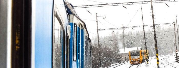 Železniční stanice Planá nad Lužnicí is one of Místa s vysílači Numitor.cz.