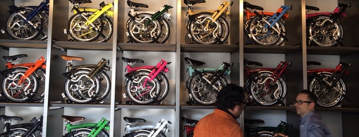 Brompton Store is one of Milan on wheels.