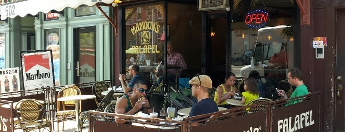 Mamoun's Falafel is one of Pretend I'm a tourist...NYC.