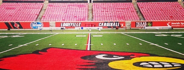 Cardinal Stadium is one of UofL Sports.