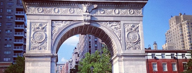 Washington Square Park is one of Free/dirt cheap NYC places to take out-of-towners.