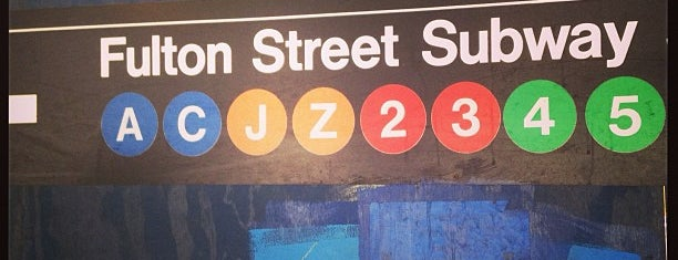 MTA Subway - Fulton St (A/C/J/Z/2/3/4/5) is one of MTA Subway - J Line.