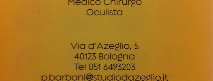 Studio Oculistico d'Azeglio is one of Art White Night 2012.