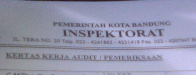 Inspektorat Kota Bandung is one of Kantor Pemerintah Kota Bandung.