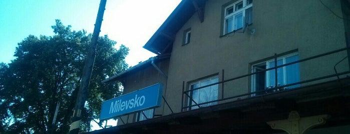 Železniční stanice Milevsko is one of Železniční stanice ČR: M (7/14).