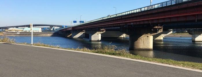 市川大橋 is one of サイクリング.