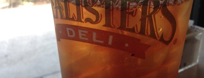 McAlister's Deli is one of my charleston places.