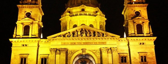 St. Stephen's Basilica is one of Budapest.