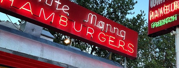White Manna Hamburgers is one of Manliest Restaurants 2012.