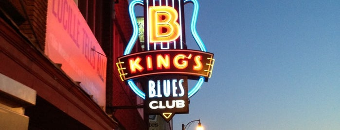 B.B. King's Blues Club is one of Dan's Places.