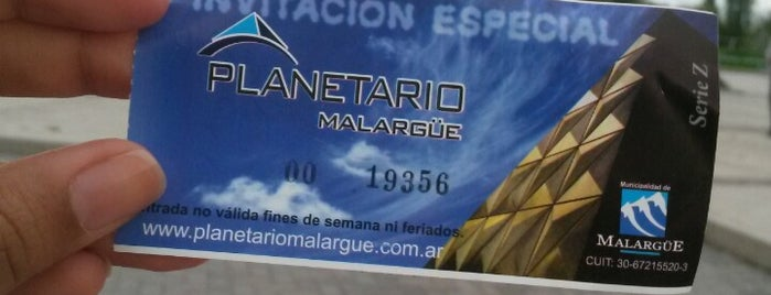 Planetario Malargüe is one of Mendoza.