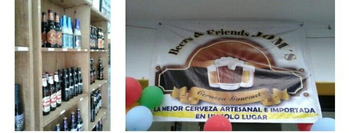 Beer & Friends JOM's Cerveza Importada y Artesanal is one of Cerveza Artesanal.