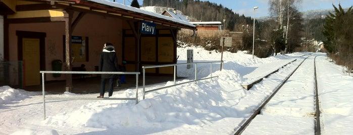 Železniční zastávka Plavy is one of Železniční stanice ČR: P (9/14).
