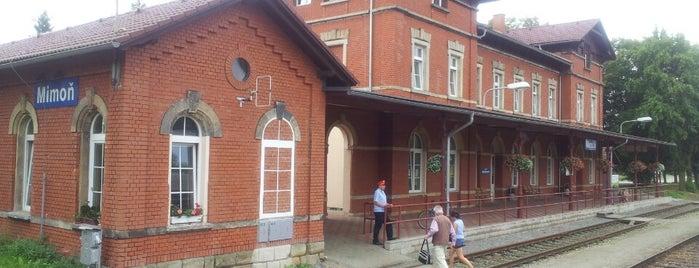 Železniční stanice Mimoň is one of Železniční stanice ČR: M (7/14).