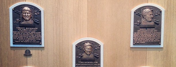 National Baseball Hall of Fame and Museum is one of New York City.