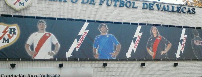 Estadio de Vallecas is one of Campos de fútbol.