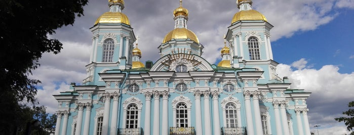 St. Nicholas Naval Cathedral is one of Санкт-Петербург.