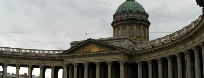 The Kazan Cathedral is one of Санкт-Петербург.
