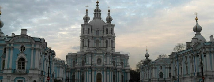 Smolny Cathedral is one of Санкт-Петербург.