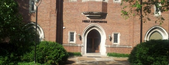 Neely Auditorium is one of Commencement 2012.