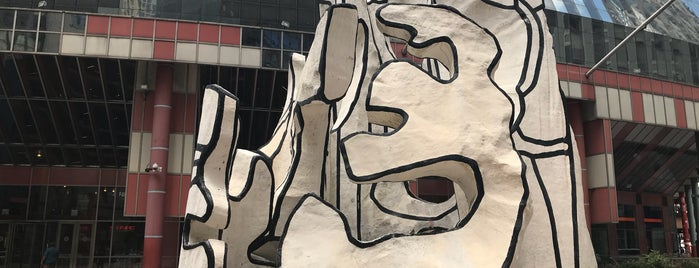 Monument with Standing Beast - Dubuffet sculpture is one of Chicago.