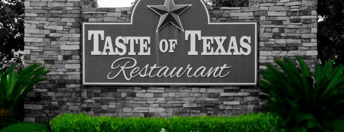 Taste of Texas is one of Places I want to try out II (eateries).