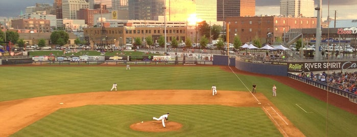 ONEOK Field is one of The 15 Best Places for Sunsets in Tulsa.