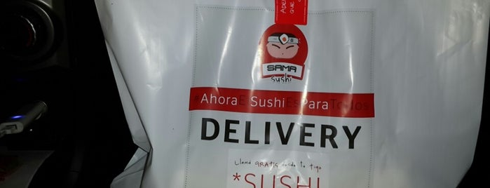 SAMA SUSHI is one of Recomendados :).