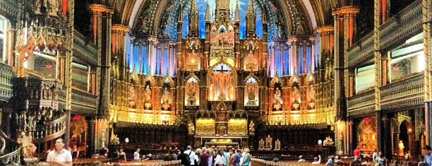 Notre-Dame Basilica of Montréal is one of Montreal, Canada.