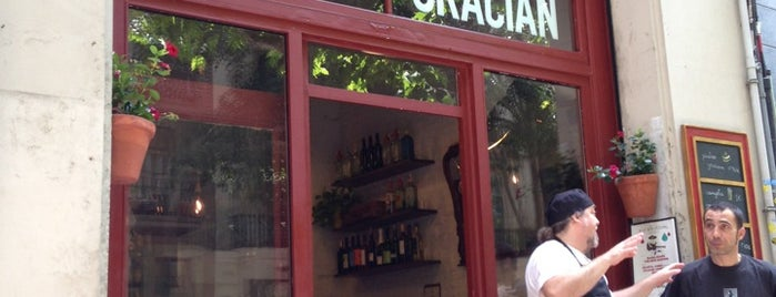 Bodega Gracián is one of Cenar en bcn.