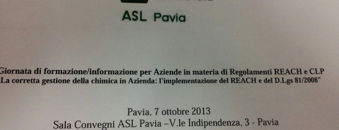 A.T.S. Pavia is one of Pavia: luoghi utili.