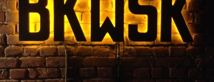 Bkwsk is one of Club, restaurant, cafe, pizzeria, bar, pub, sushi.