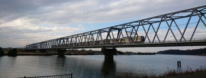 京成本線 江戸川橋梁 is one of 千葉県と隣県を繋ぐ鉄道橋.