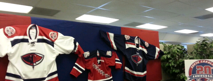 Stingrays Hockey office is one of my charleston places.