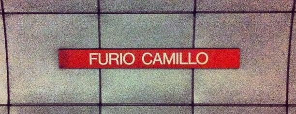 Metro Furio Camillo (MA) is one of Muoversi a Roma.