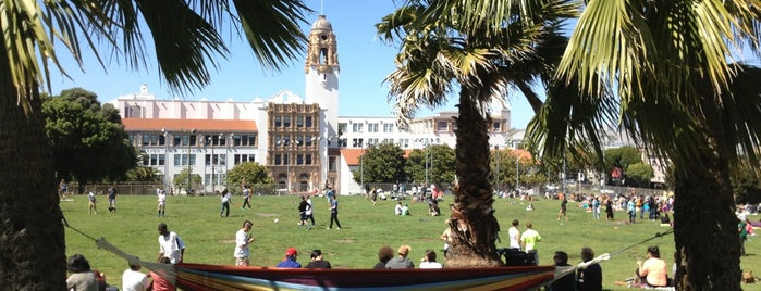 Mission Dolores Park is one of Bruno goes to SF.